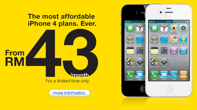 DiGi iPhone 4 Promotion At RM43/month