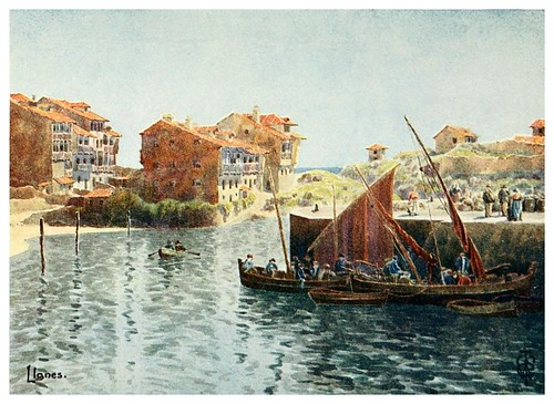 18-Puerto de LLanes-Northern Spain painted and described-1906- Edgar Thomas Ainger