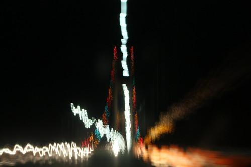 travel abstract night lights michigan mackinawbridge canondarkness