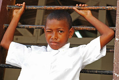 COL-tierrabomba-0706-131-v1 (anthonyasael) Tags: boy portrait people black window boys students childhood horizontal shirt kids america standing children person one 1 stand kid student holding rust colombia child play arms time african south rusty free age portraiture rusted latin only schoolchildren spare wink playful cartagena pupil hold elementary raised ethnicity schoolboy winking africans schoolchild schoolboys tierrabomba puerility