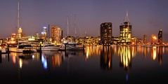 city roots #2: the pano (mugley) Tags: city sky urban autostitch panorama water skyline architecture modern night digital reflections river dark campus boats lights evening construction nikon apartments cityscape skyscrapers zoom stadium pano towers kitlens newquay australia melbourne victoria cranes f16 catamaran yarra t5 docklands bluehour yachts 1855 nikkor dslr residential stitched core rialto nab urbanlandscape d300 telstradome 13s 4xp 26mm ye2 ye5 ye3 ye1 ye4 plasticky victoriapoint dock5 bourkeplace yarrasedge colonialstadium docklandsstadium convesso 1855mmf3556gii gsub etihadstadium
