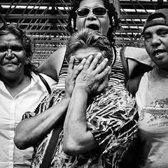 Aboriginal Women, Perth (ingojez) Tags: women oz group young railwaystation perth aborigine aboriginal westernaustralia embarrassed