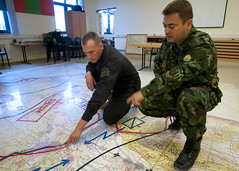 OPFOR and Bulgarian SOF reviewing plan (U.S. Army Europe Images) Tags: poland multinational usarmyeurope opfor bumgardner opposingforces 173rdairbornebrigadecombatteam fste pandov fullspectrumtrainingevent militarymilkie