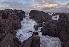 Water through rocks (PA077834) (Mel Stephens) Tags: uk longexposure geotagged scotland rocks waves best aberdeen gps stitched 2011