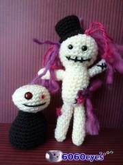 Zombies dolls (6060eyes) Tags: zombie handmadedolls halloweendecor 6060 plasticeyes halloweendolls crochetamigurumi crochetdolls safetyeyes zombiedolls crafteyes handpaintedeyes albinoeyes handmadedecor crochetdecor 6060eyes