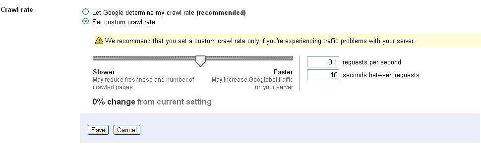 Set Custom Crawl Rate