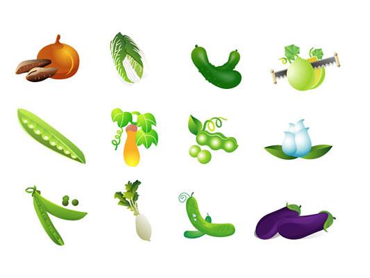 Verduras y Tuberculos en Vector