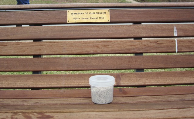 Dad's ashes on his bench