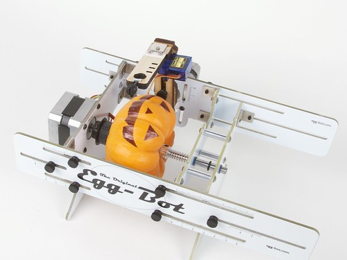 mini jack-o-lantern in eggbot