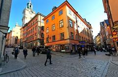 The Long Street (nikkorglass) Tags: autumn oktober nikon october sweden stockholm sigma wideangle fisheye gamlastan sverige 1020mm oldtown hst d300 2011 vsterlnggatan sigma1020 vidvinkel nikkorglass sigmaex10204056dc
