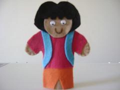 Dora (Dora a aventureira) (Arty Pano) Tags: brinquedo criana feltro escola professor pedaggico educativo dedoche