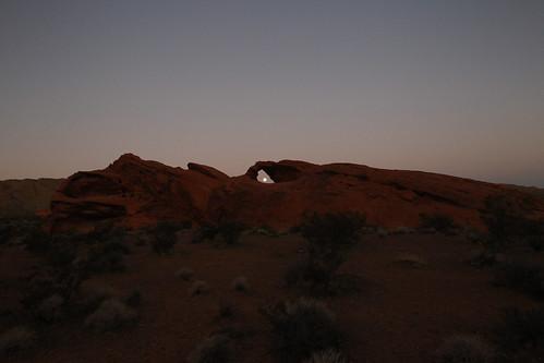 Moon peaking through