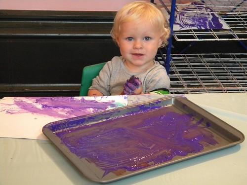 Thomas paints!