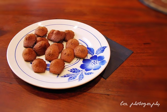 mini madeleines au nutella