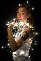 Nicole (austinspace) Tags: portrait woman tattoo studio lights washington spokane redhead backdrop alienbees