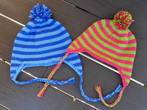 Benjamin's and Miriam's Earflap Hats