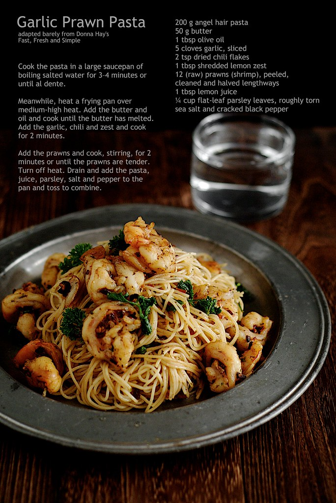 donna hay garlic prawn pasta