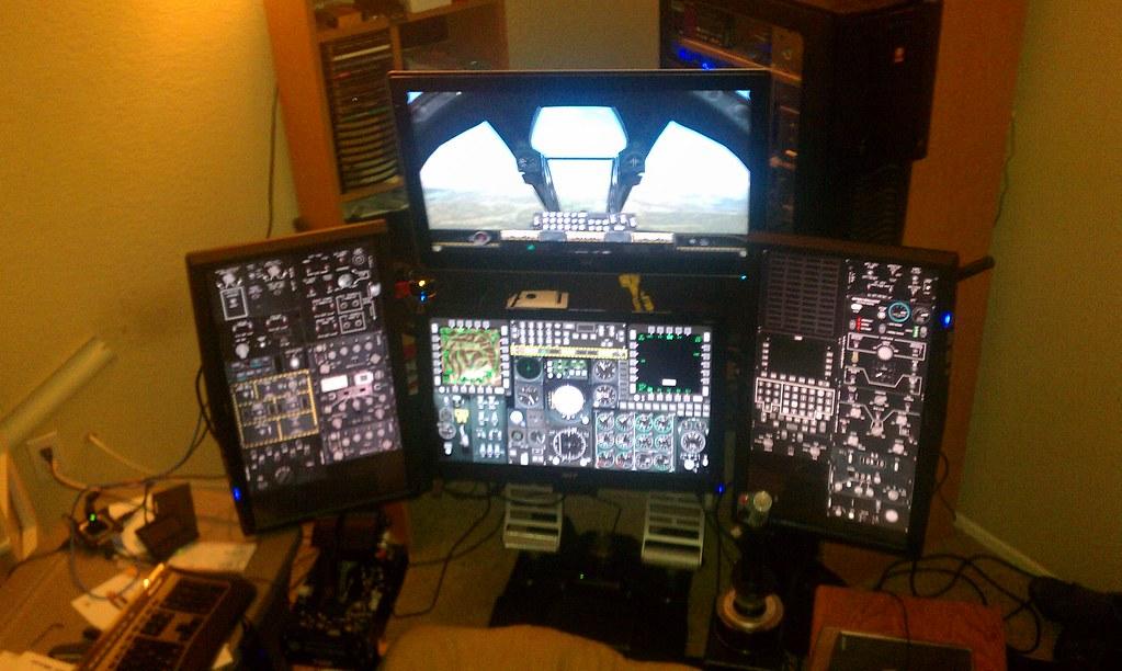 DCS A-10C - Cougar MFD on Lilliput UM-80s - YouTube