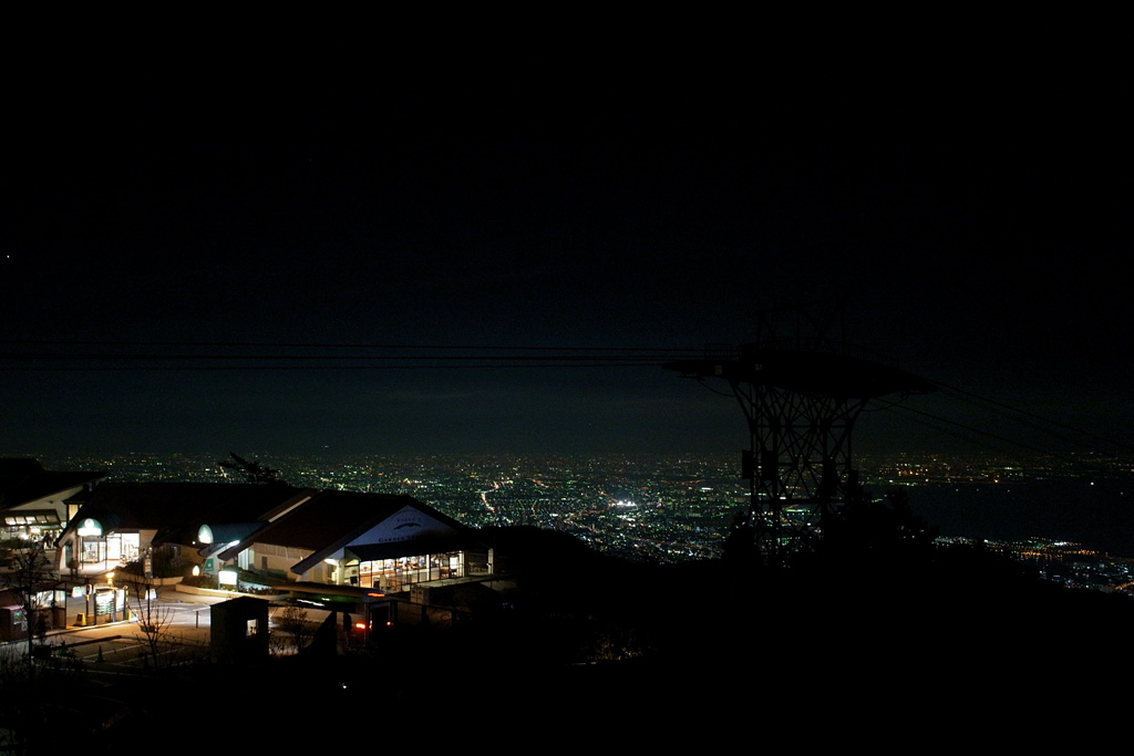 the night view from Mt. Rokkou Garden Terrace