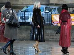 From my friend PS (mallorcarain) Tags: fetish nice boots vinyl streetshots raincoat pvc bottes fakes stiefel raincape regenmantel cir lackmantel impermables