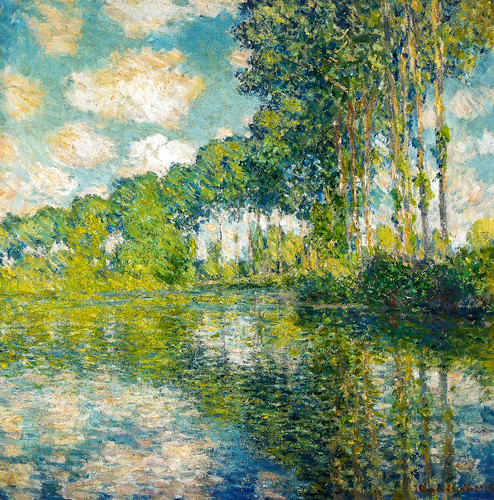 Claude Monet - Poplars on the Epte, 1891 at the National Gallery of Scotland Edinburgh Scotland by mbell1975