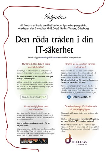 Inbjudan IT-dag 2011-10-05