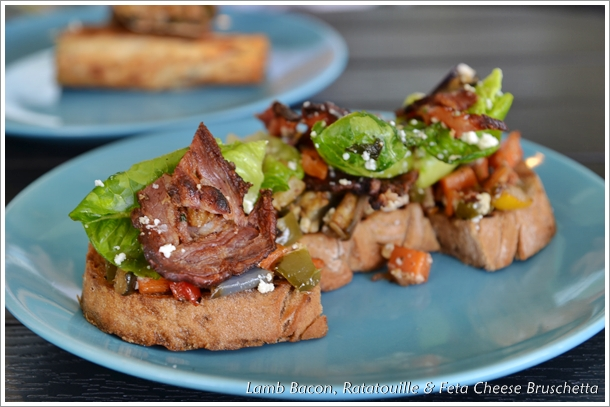 Lamb  Bacon Bruschetta