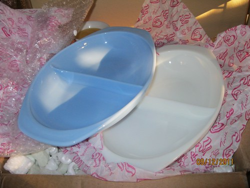 Delphite and Opal Divided Dish