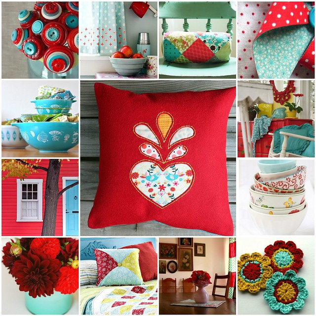 Red and Aqua Color Inspiration