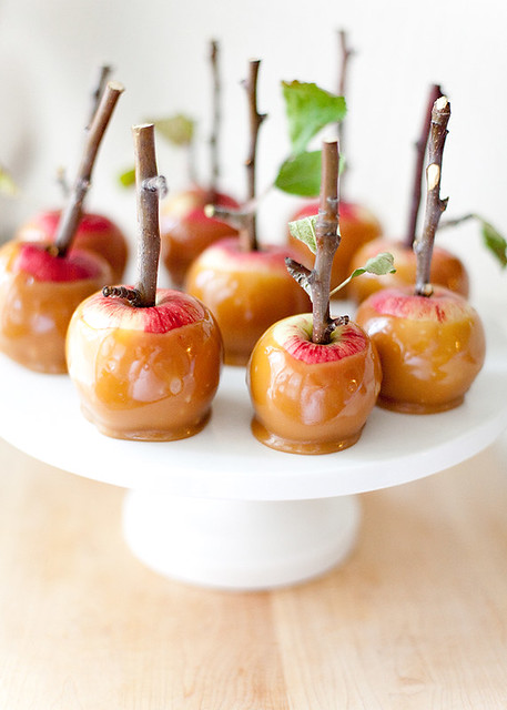 3 Allysonbakerdeisng-Twig Branch Mini Caramel Candy Apples Idea Fall