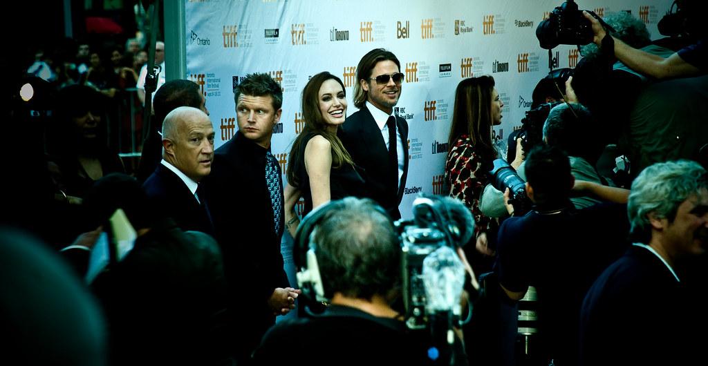 "Brad Pitt & Angelina Jolie @ the premiere of ""MoneyBall"""