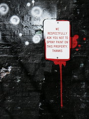 We respectfully ask you not to spray paint on this property. Thanks. (GXM.) Tags: urban chicago chicagoist gxm 2011