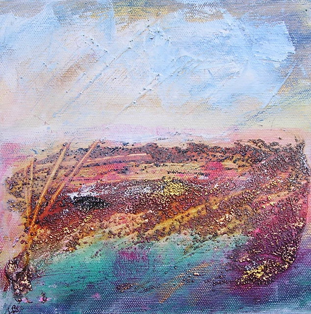Arran I mixed media by Lesley Birch
