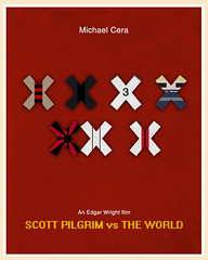 Scott Pilgrim vs The World (2010) (Jon Glanville) Tags: edgarwright scottpilgrim bryanleeomalley michaelcera scottpilgrimvstheworld ramonaflowers gideongraves sevenevilexes minimalistfilmposter