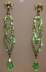 brinco strass verde (r.sandoli) Tags: strass bijuterias acesrios