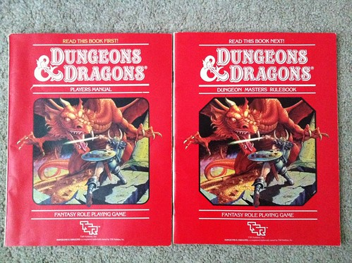 Old Dungeons and Dragons Rulebooks