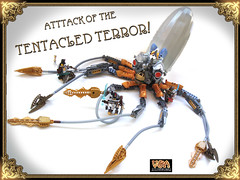 Tentacled Terror for Battle Beasts @ BrickCon 2011 (V&A Steamworks) Tags: robot lego mechanical battle squid va beat terror octopus steamworks tentacle steampunk moc