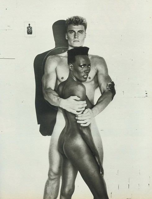 Grace Jone Dolph Lundgren PB 1985 7 Juillet