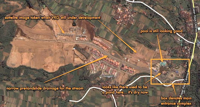 annotated map of VKG development in Cianjur