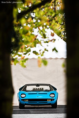 OOO - One Of One (Keno Zache) Tags: auto blue tree beauty canon germany photography eos power automotive ps 11 legendary classics oldtimer blau bltter lamborghini cabrio luxury rare baum zelt roadster miura sportcar keno wagen sportwagen bensberg 400d zache mittig