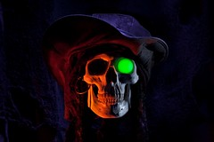 It Be Pirate Day! (jciv) Tags: desktop light wallpaper halloween painting skull scary evil haunted creepy pirate talklikeapirateday buccaneer glowingeye pirateday internationaltalklikeapirateday tlapd itlapd file:name=dsc00877