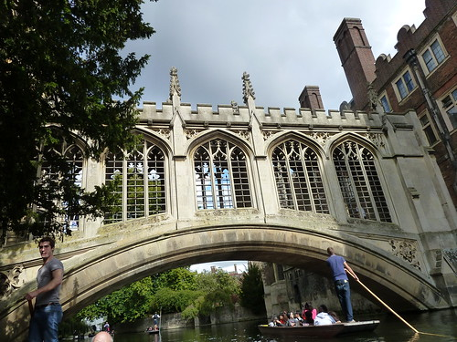 Punting Scene on River Cam
