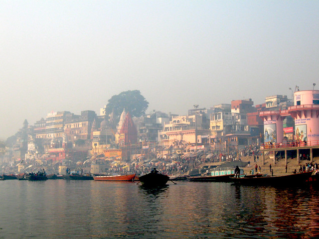 Morning Mist on the ghats of Varanasi