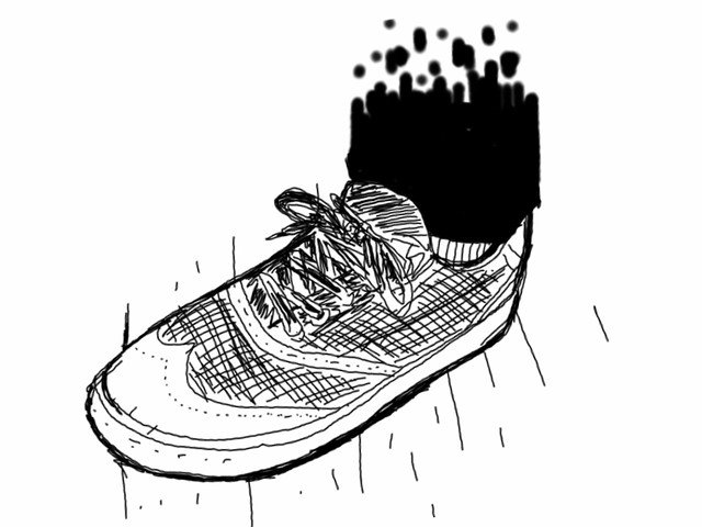 Digital crapstyle sneaker