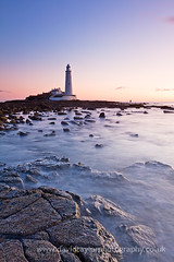 St. Mary's Lighthouse (dtaylorphotography) Tags: uk morning autumn sea england lighthouse beach saint st architecture landscape outdoors island evening coast early quiet unitedkingdom britain landmark calm clear northumberland trinity northumbria marys coastline northeast tides causeway whitleybay firstthing