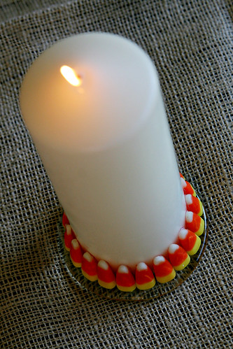 Candy Corn Candle 9