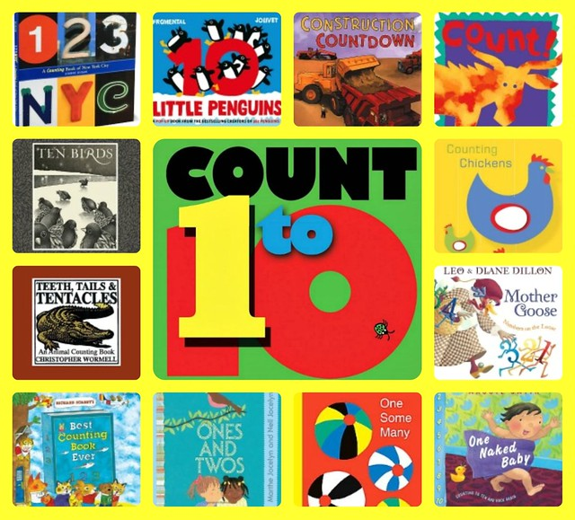 Counting books collage