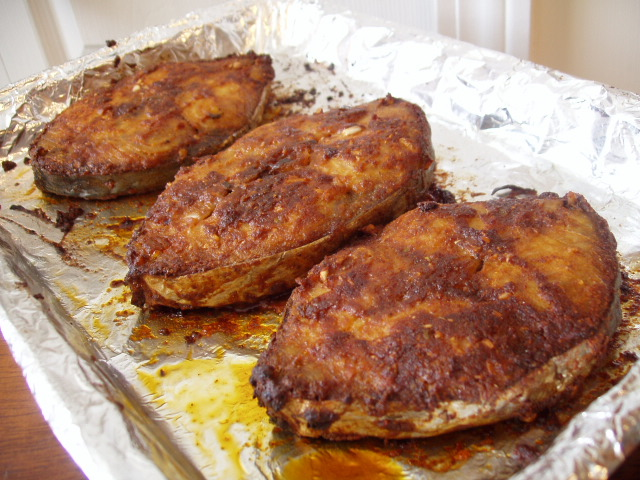 Surmai Fry / Broiled King Mackerel.