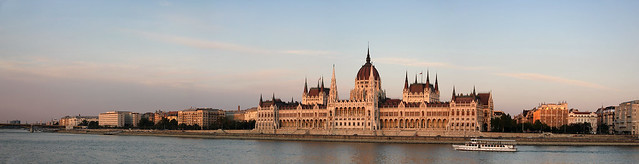 Parliament panorama in the sunset 2011