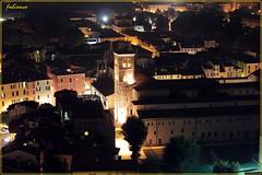 S.Faustino (fabianco) Tags: rotonda chiesa cielo cupola luci duomo castello brescia notte città